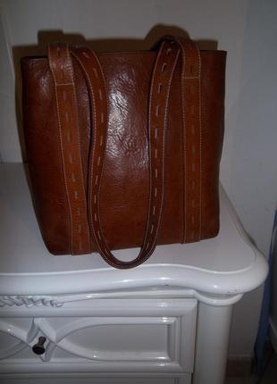Кожаная брендовая сумка roberto cavallo