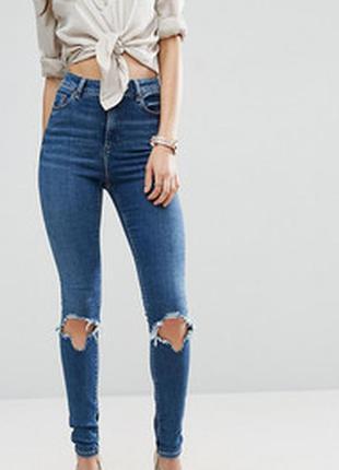 Рваные джинсы скинни на лето