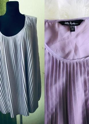 Нарядная фирменная сиреневая блузка большого размера