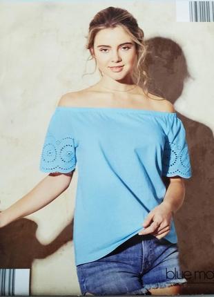 Летняя голубая блуза