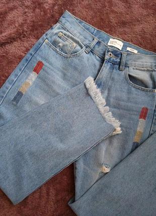 Супер джинсы мом размера м + подарок