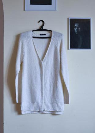 Белый кардиган gina tricot