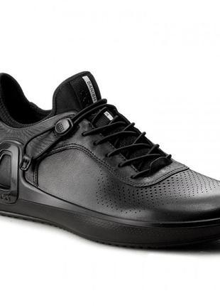 """Мужские кожаные кроссовки ecco intrinsic 3 """"black noir"""""""