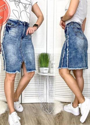 Женская джинсовая юбка , 29.30.31.32.33 размеры