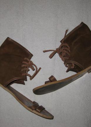 25 см стелька, летние кожаные босоножки сапожки zara сандалии гладиаторы