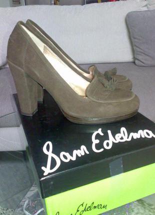 Лоферы на каблуке, туфли sam edelman р. 37.5 - 38