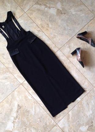 Актуальне чорне плаття-міді 2020{ кофта в 🎁}