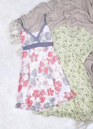 Платье сарафан на бретелях с цветами цветочный принт цветочками поясом