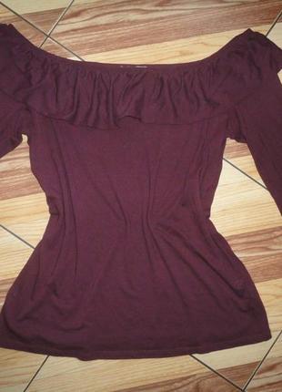 Трикотажная блуза сливового цвета