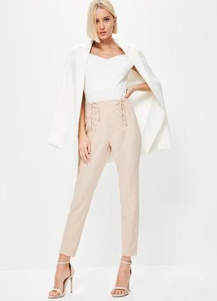 Женские брюки на шнуровке штаны