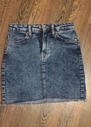 Джинсовая юбка bershka