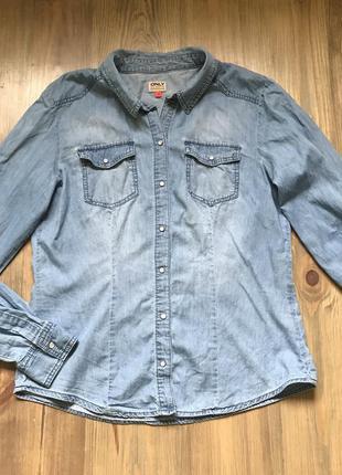 Рубашка джинсовая only на 48р.