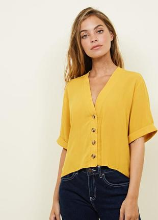 Блуза-топ на пуговицах new look