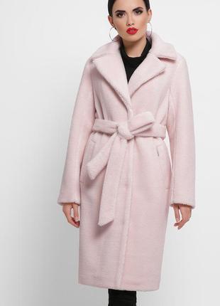 Розовая зимняя шуба