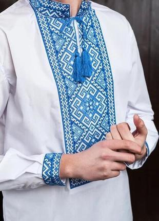 Чоловіча вишиванка, вышиванка, вишита сорочка розмір по коміру 39,наш 48,s