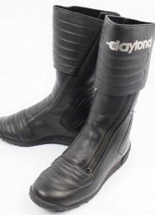 Крутые мощные бренд.байкерские сапоги daytona,мотоботы,кожа,германия,унисекс
