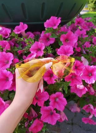 Солнцезащитные очки модные очки желтые очки без оправы