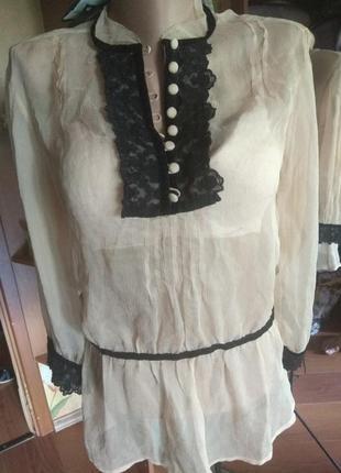 Блузка из шелка massimo dutti 38- 40 євро