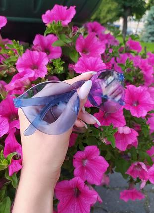 Распродажа имиджевые очки солнцезащитные очки модные очки синие очки без оправы