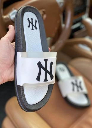 Шлепанцы мужские белые new york yankees