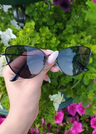 Солнцезащитные очки модные очки черные очки в черной оправе