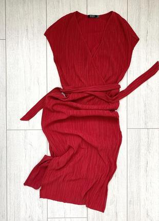Сукня сарафан на запах bershka