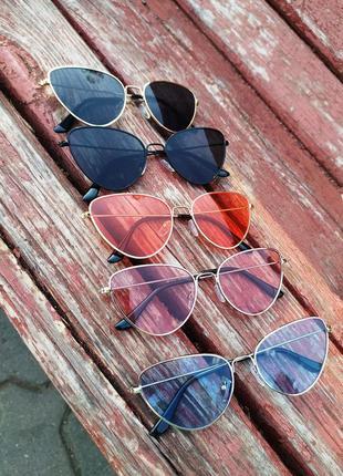 Солнцезащитные очки  стильные очки  голубого цвета