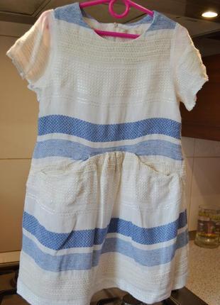 Красивое лёгкое платье зара 6-8лет