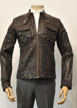 Шкіряна куртка кожанка paul casual dpt. як allsaints - l