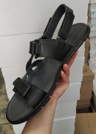 Мужские,удобнейшие сандали на липучках,кожа, размер 43