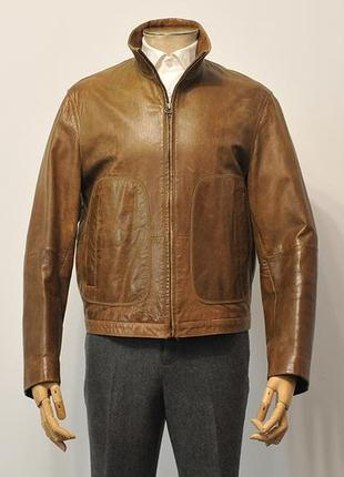 Шкіряна куртка кожанка hugo boss - 50
