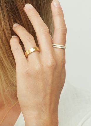 Ликвидация срочно🔥 шикарное золотое кольцо с бриллиантами в стиле gucci / белое