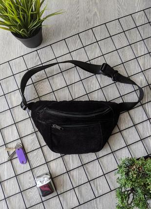 -55% очень стильная, вместительная сумка на пояс, бананка из вельвета! качество +++