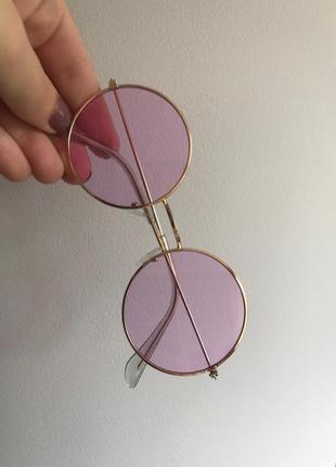 Стильные круглые солнцезащитные очки фиолетового цвета, хит сезона, бестселлер 2020