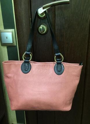 Шикарная сумка натуральная кожа tosca blu италия оригинал