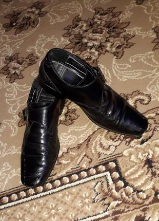 Итальянские кожаные туфли m&s  на 39-39,5 р.