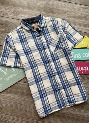 Рубашка лен next 8-9л