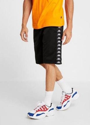 Kappa shorts шорты лампасы лето  m s