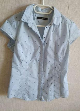 Рубашка голубая женская reserved размер m 38