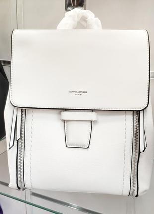Фирменный красивый белый рюкзак david jones кроссбоди