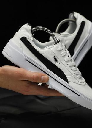 Мужские кроссовки puma cali (белые)