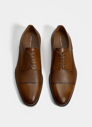 Кожаные туфли оксфорды zara man !