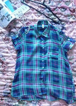 Легкая удлиненная блуза  gloria jeans