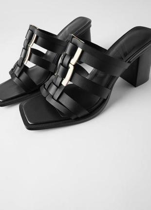 Кожаные босоножки, туфли, мюли, шлёпки