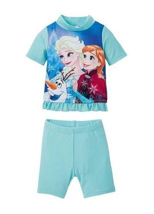 Купальный костюм для девочки эльза и анна