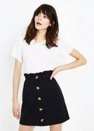 Cropp юбка размер m черная с пуговицами