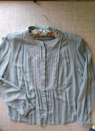 Рубашка вышивка кружево