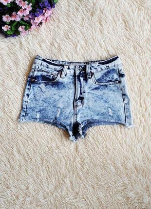 Высокие выбеленные джинсовые шорты denim co