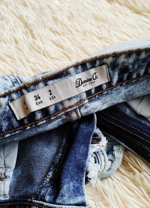 Высокие выбеленные джинсовые шорты denim co4 фото