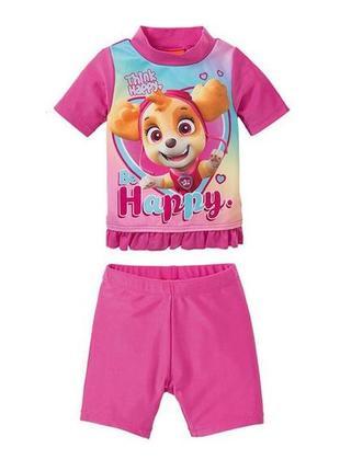 Купальный костюм для девочки щенячий патруль